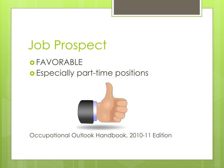 Job Prospect