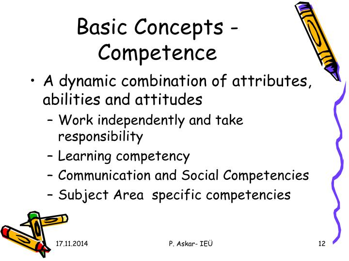 Basic Concepts - Competence