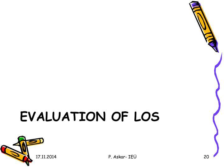 Evaluation Of LOs