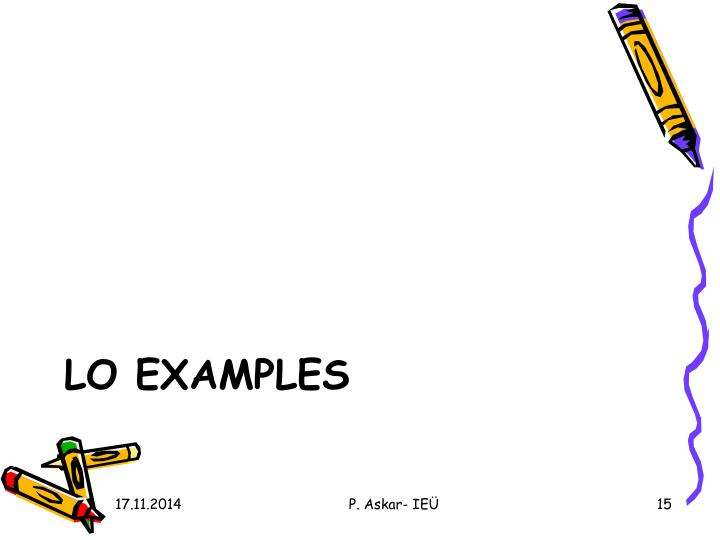 LO EXAMPLES