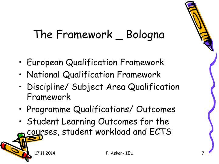 The Framework _ Bologna