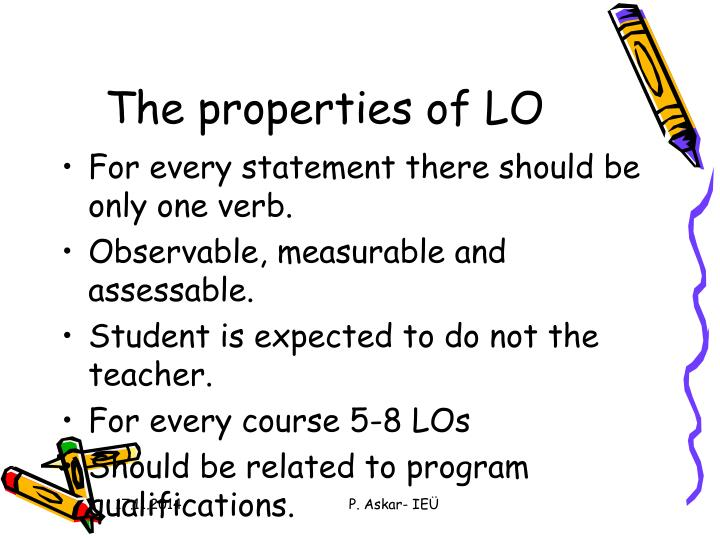 The properties of LO
