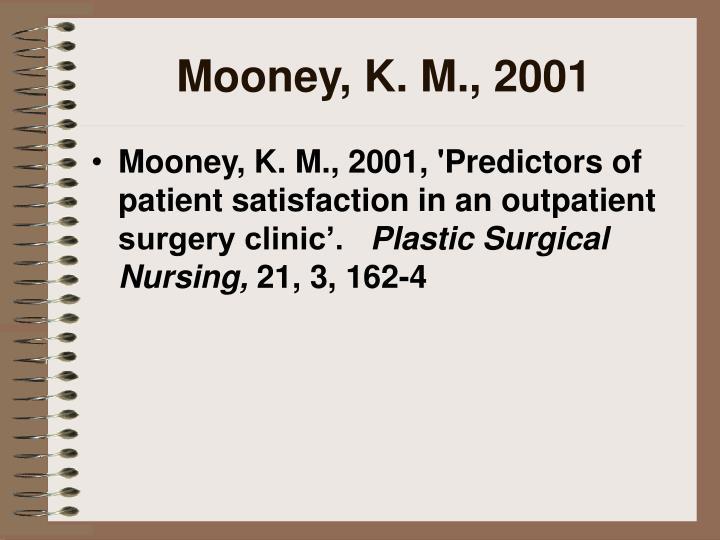 Mooney, K. M., 2001