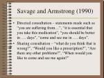 savage and armstrong 19901