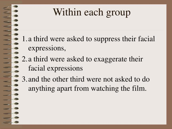 Within each group