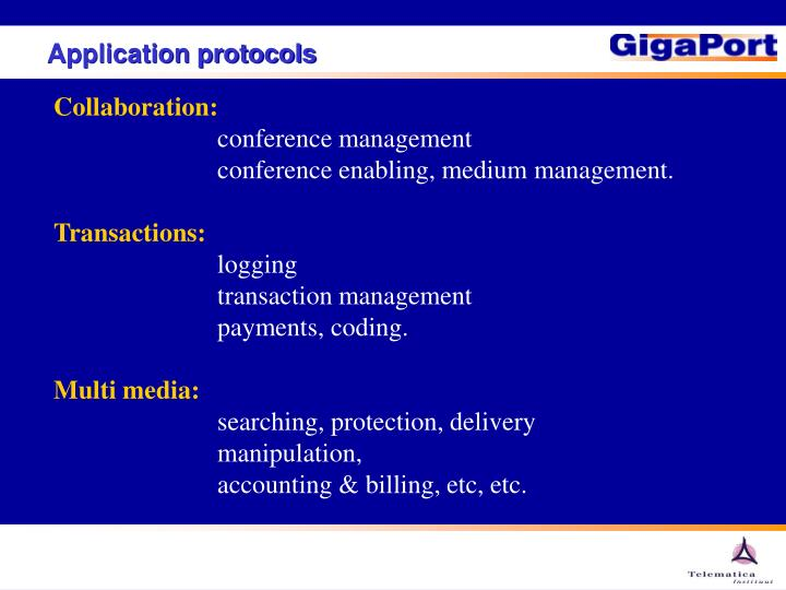 Application protocols