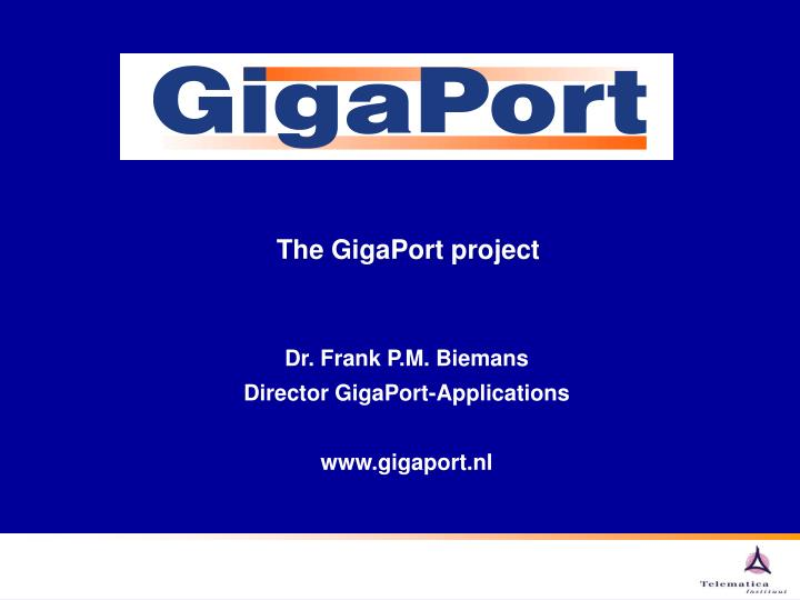 The GigaPort project