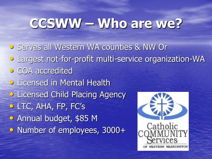CCSWW – Who are we?