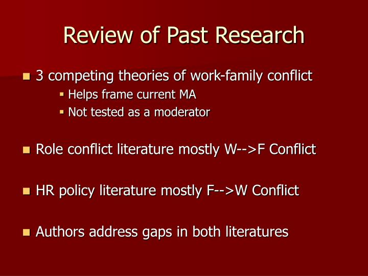 Review of Past Research