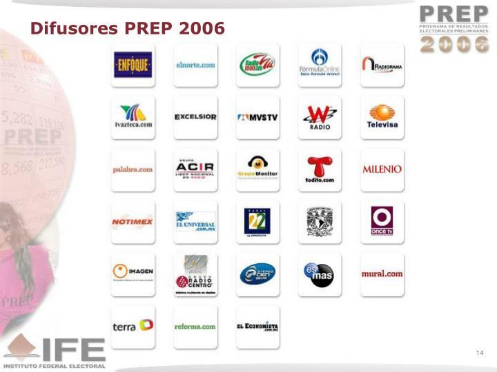 Difusores PREP 2006