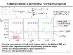 kotzinian mulders asymmetry new clas proposal