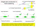 single pion production in hard scattering