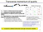 transverse momentum of quarks