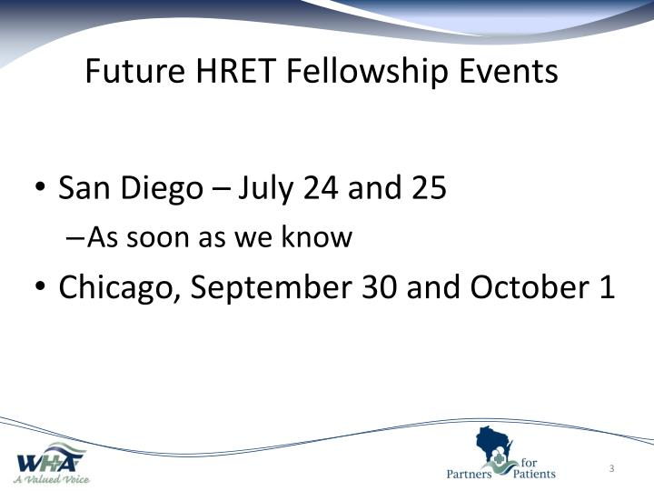 Future hret fellowship events