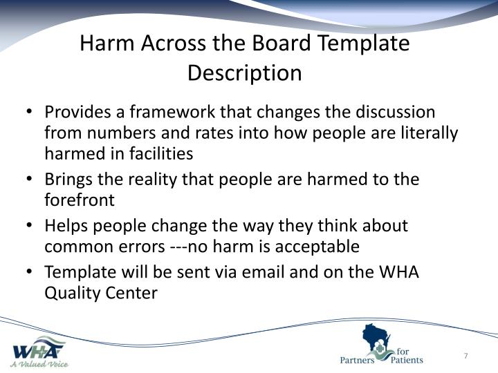 Harm Across the Board Template Description