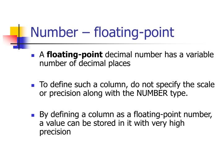 Number – floating-point