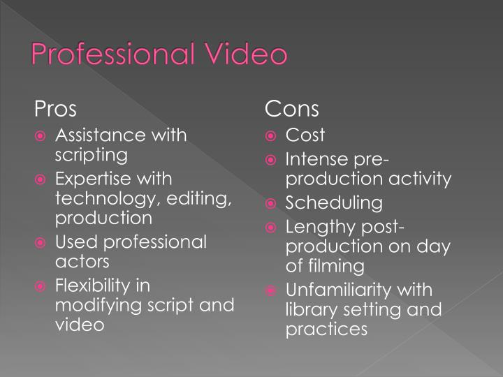 Professional Video