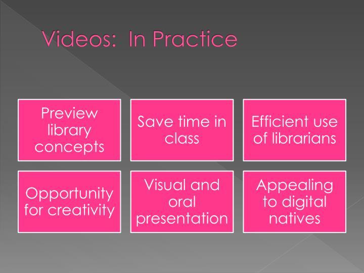 Videos:  In Practice