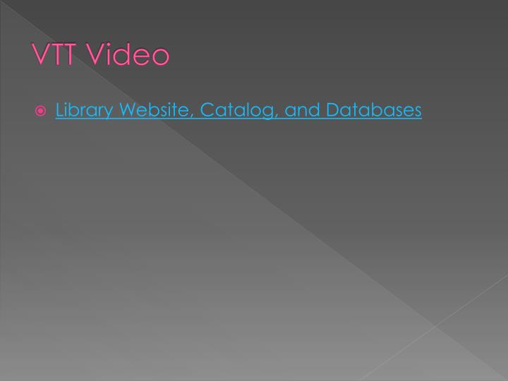 VTT Video