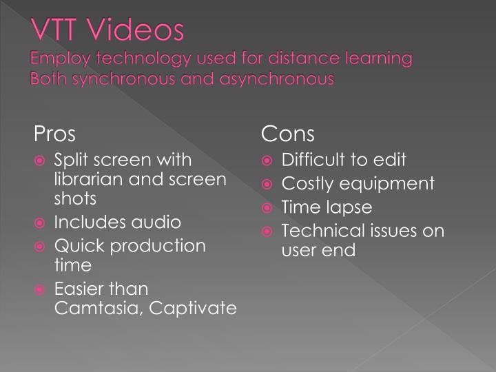 VTT Videos