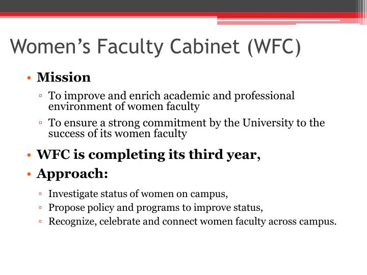 Women s faculty cabinet wfc