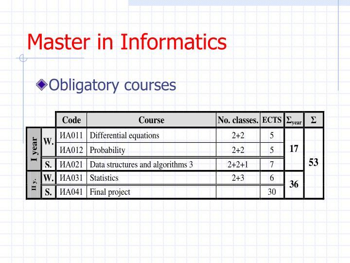 Master in Informatics