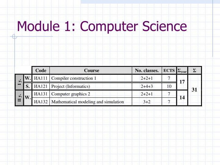 Module 1: Computer Science