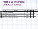 module 3 theoretical computer science