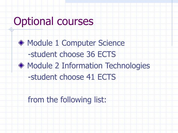 Optional courses