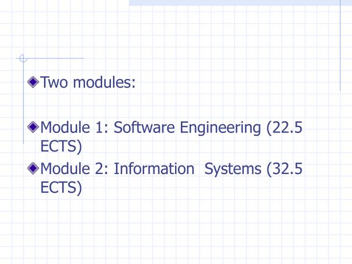 Two modules: