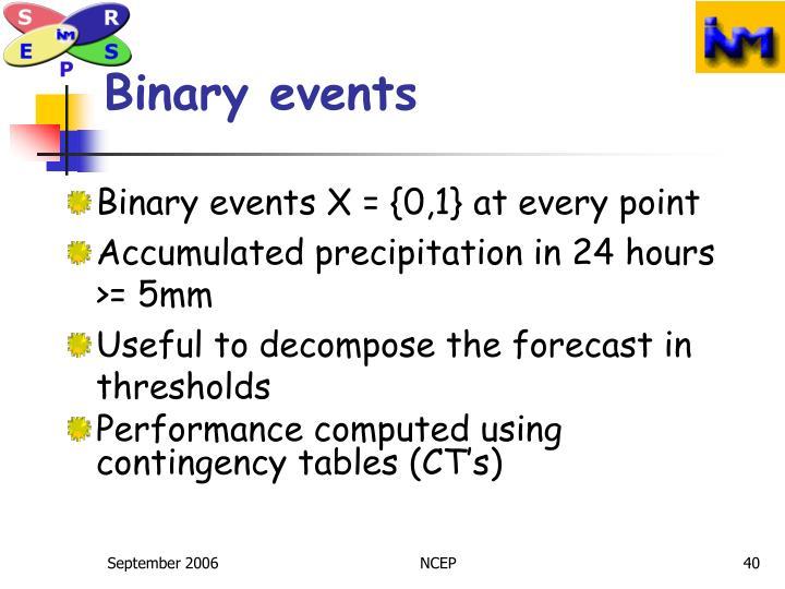 Binary events