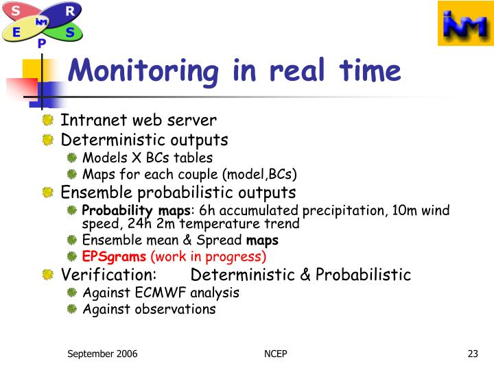 Monitoring in real time