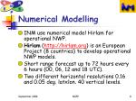 numerical modelling
