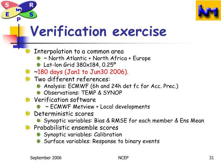 Verification exercise