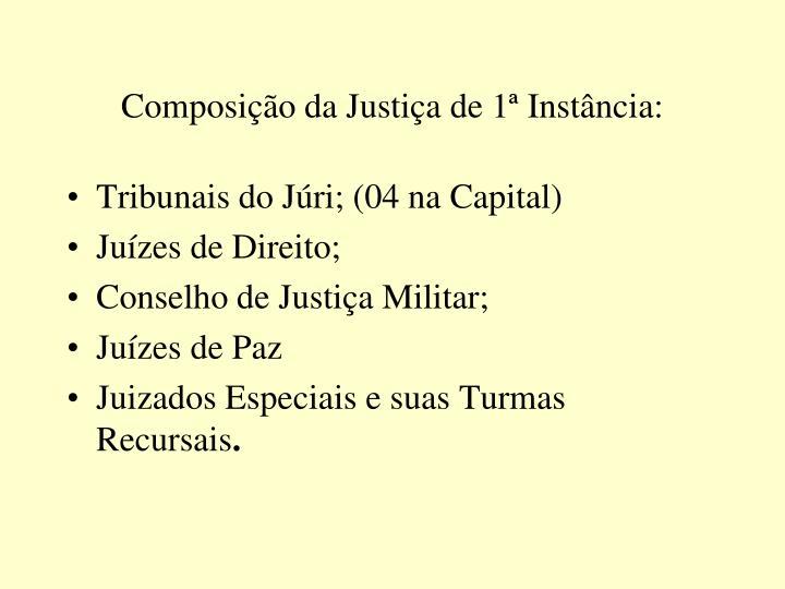 Composição da Justiça de 1ª Instância: