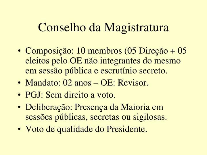 Conselho da Magistratura