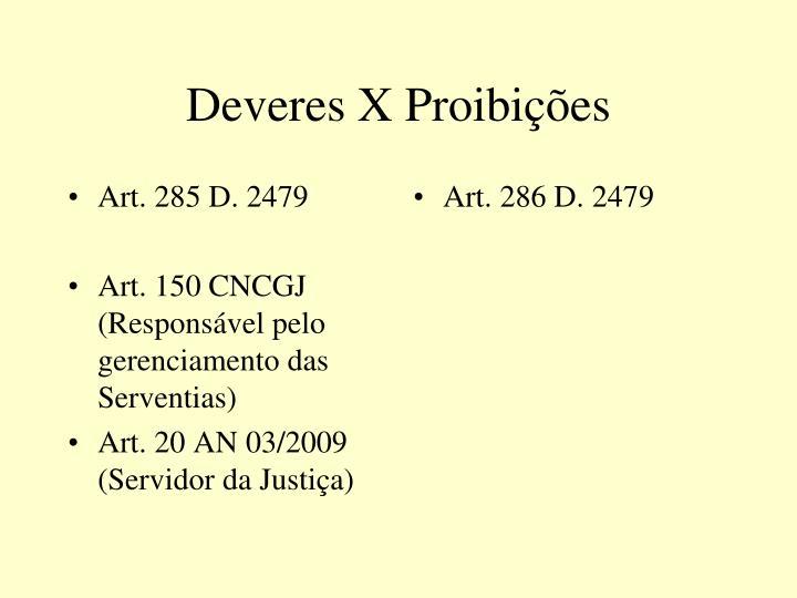 Art. 285 D. 2479