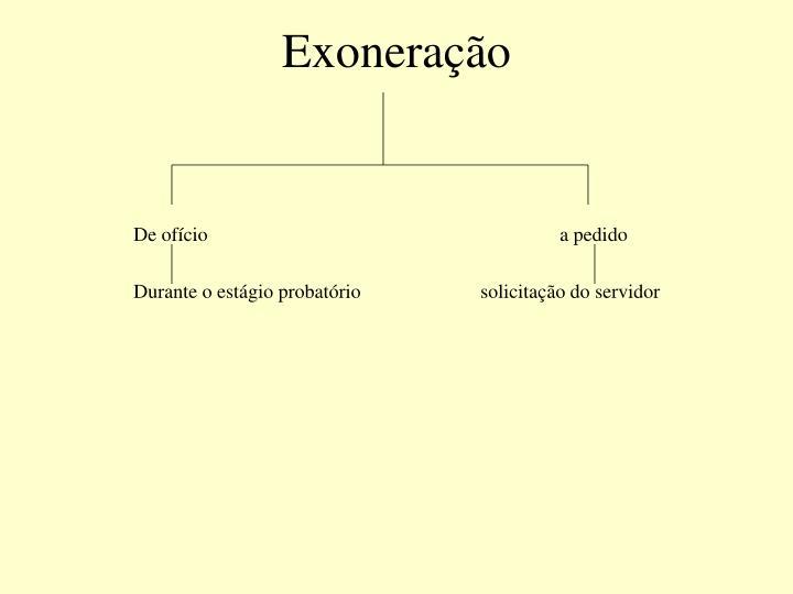 Exoneração