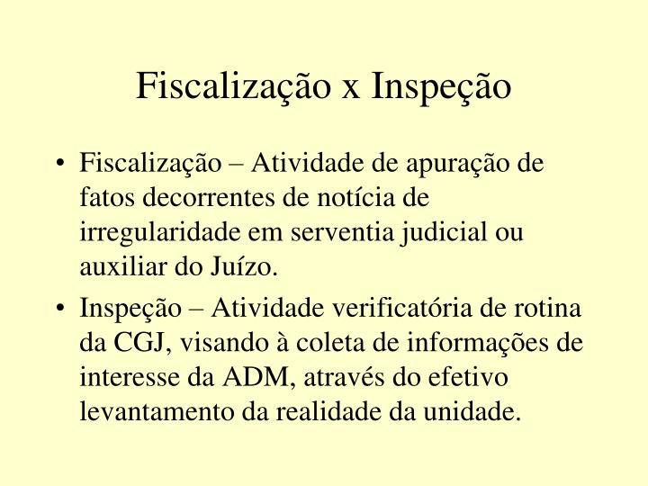 Fiscalização x Inspeção