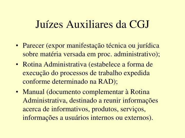 Juízes Auxiliares da CGJ