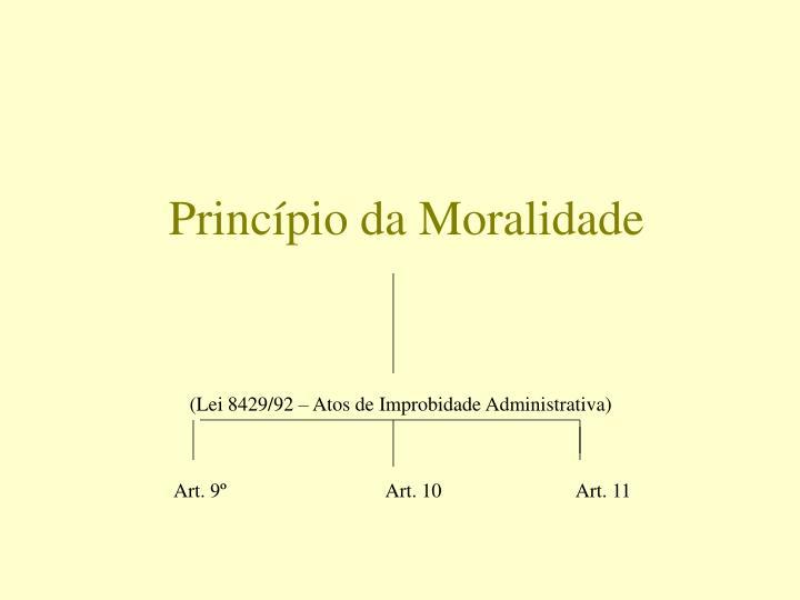 Princípio da Moralidade