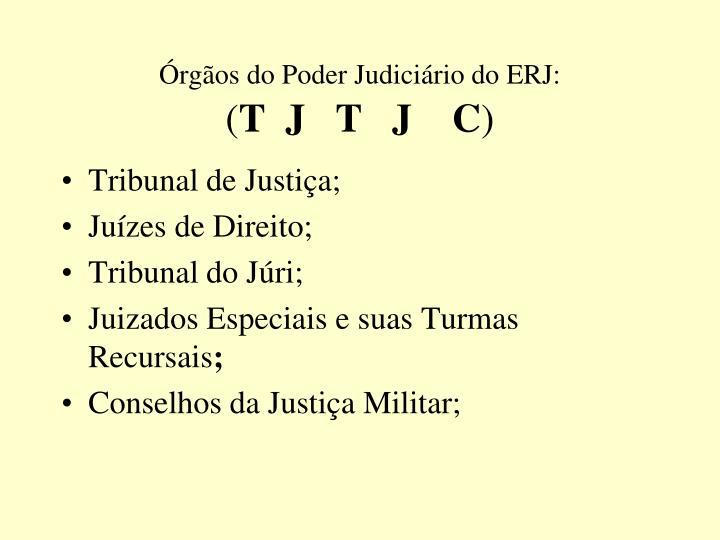 Órgãos do Poder Judiciário do ERJ: