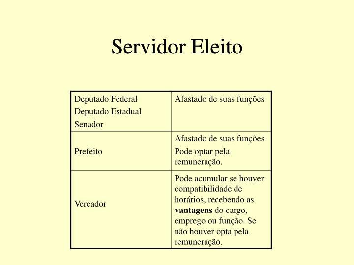 Servidor Eleito