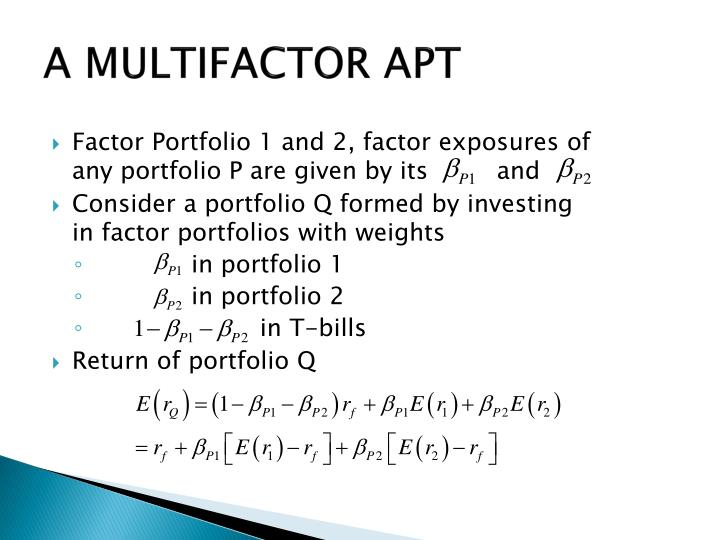 Factor Portfolio 1 and 2, factor exposures of any portfolio P are given by its         and