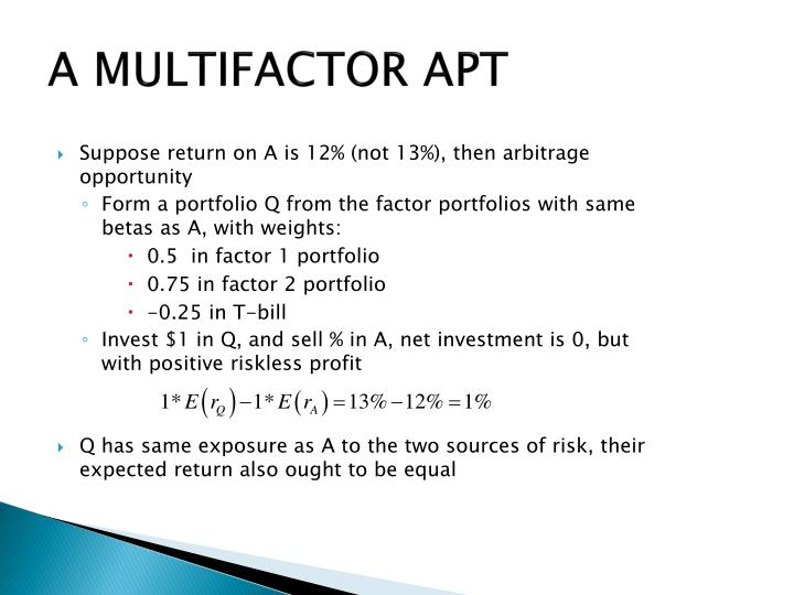 Suppose return on A is 12% (not 13%), then arbitrage opportunity