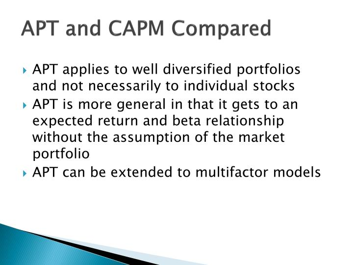 APT and CAPM Compared