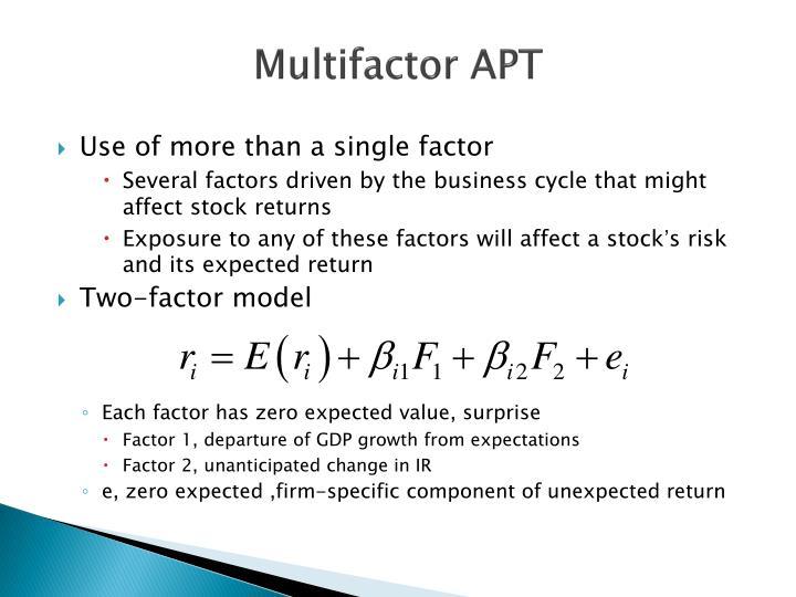 Multifactor APT