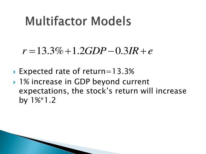 Multifactor Models