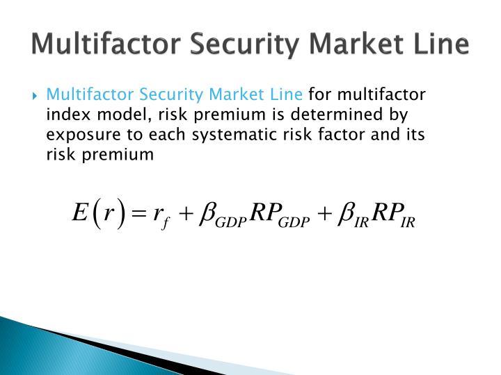 Multifactor Security Market Line