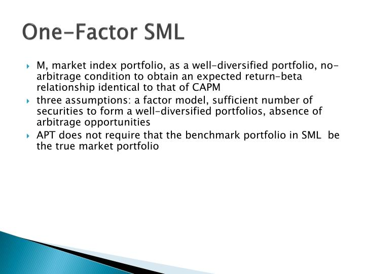 One-Factor SML